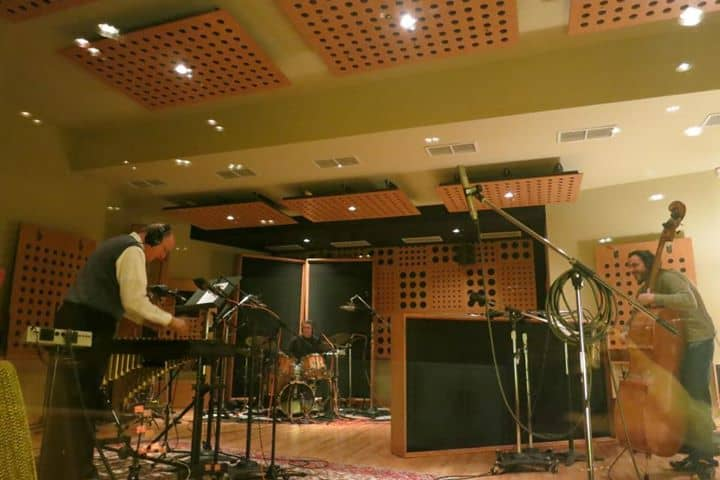 Good Vibes trio recording at the Terrarium Dec 2012.